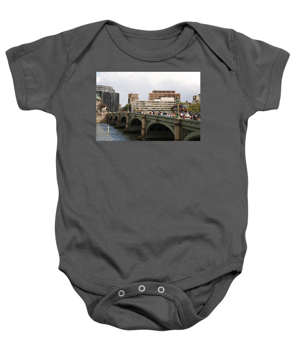 Westminster Baby Onesie featuring the photograph Westminster Bridge. by Christopher Rowlands