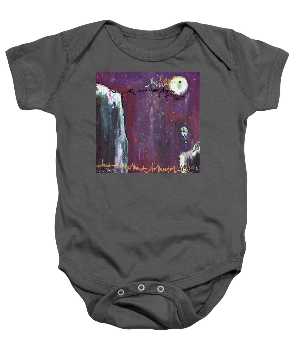 Moon Baby Onesie featuring the painting What I Connect To Most Of All by Laurie Maves ART