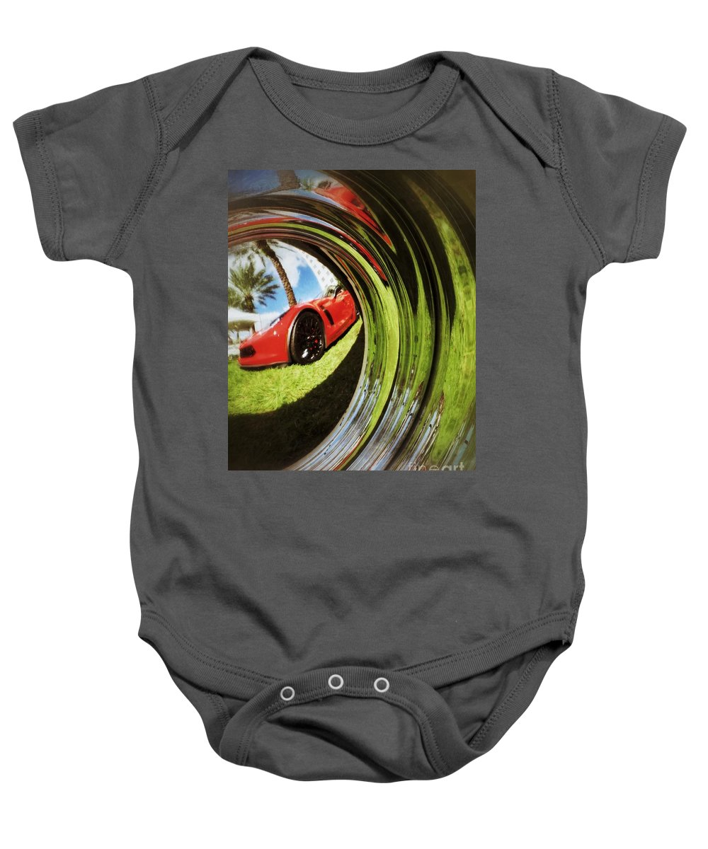Corvette Baby Onesie featuring the photograph Wheel Well 2 by Diana Rajala