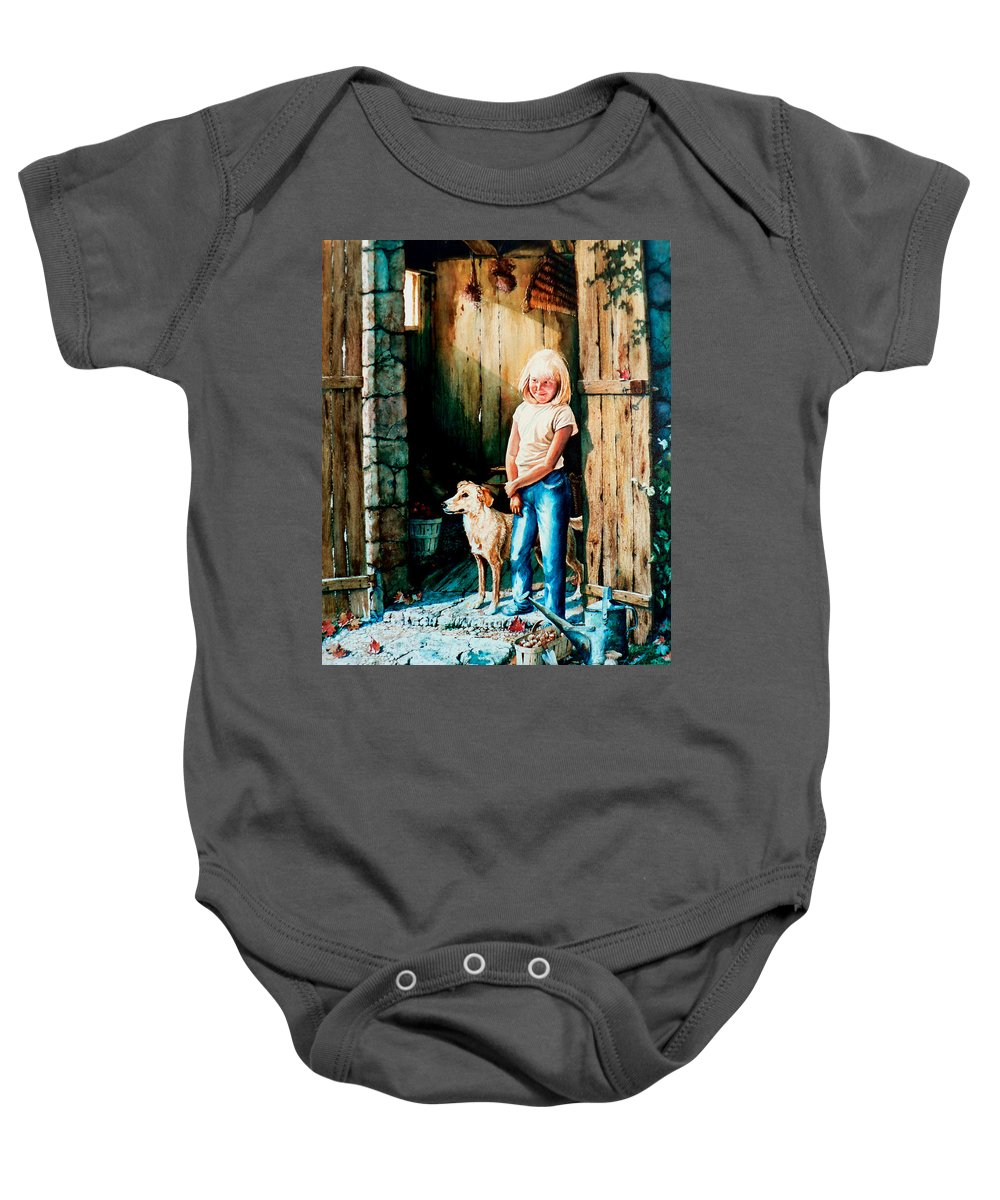 Tribute To Connie Francis Baby Onesie featuring the painting Where The Boys Are by Hanne Lore Koehler