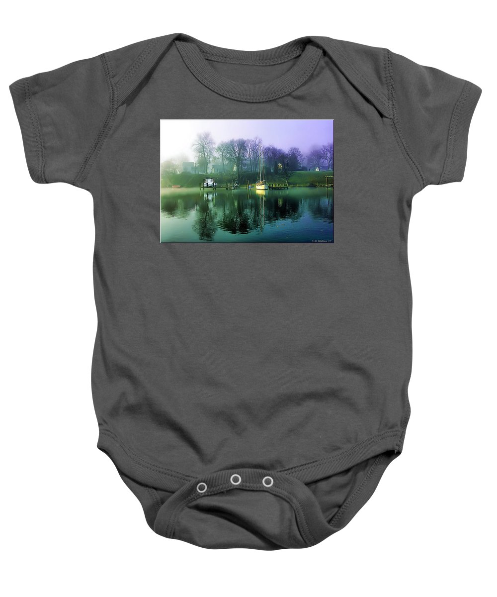 2d Baby Onesie featuring the photograph White's Cove Awakening by Brian Wallace