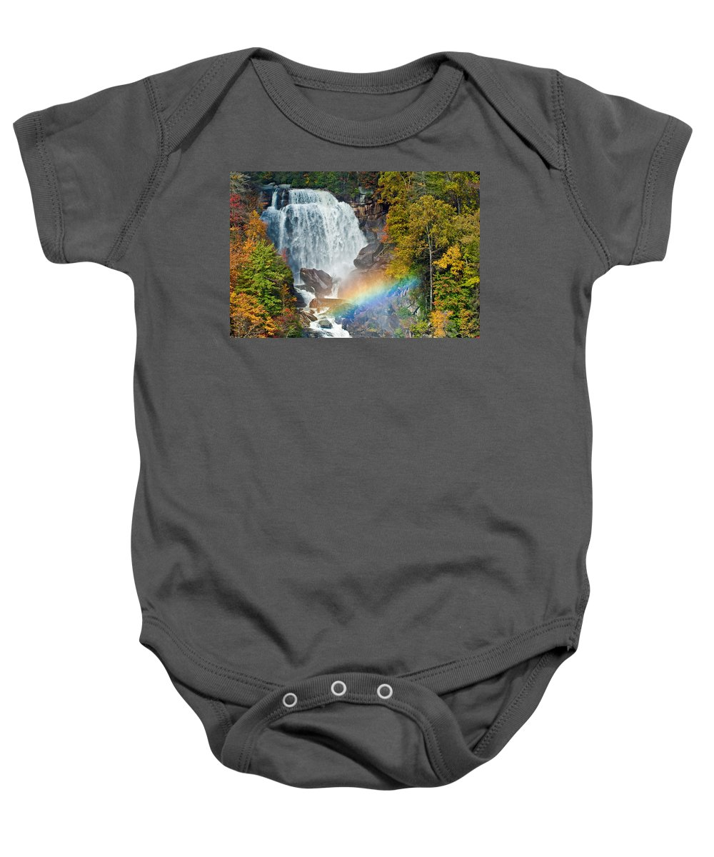Waterfall Baby Onesie featuring the photograph Whitewater Falls by David Freuthal
