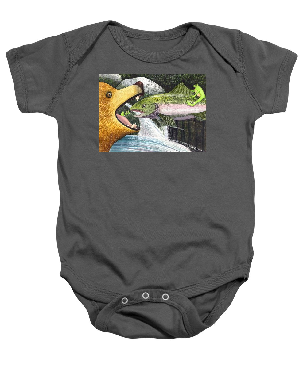 Frog Baby Onesie featuring the painting Whoa Nellie by Catherine G McElroy