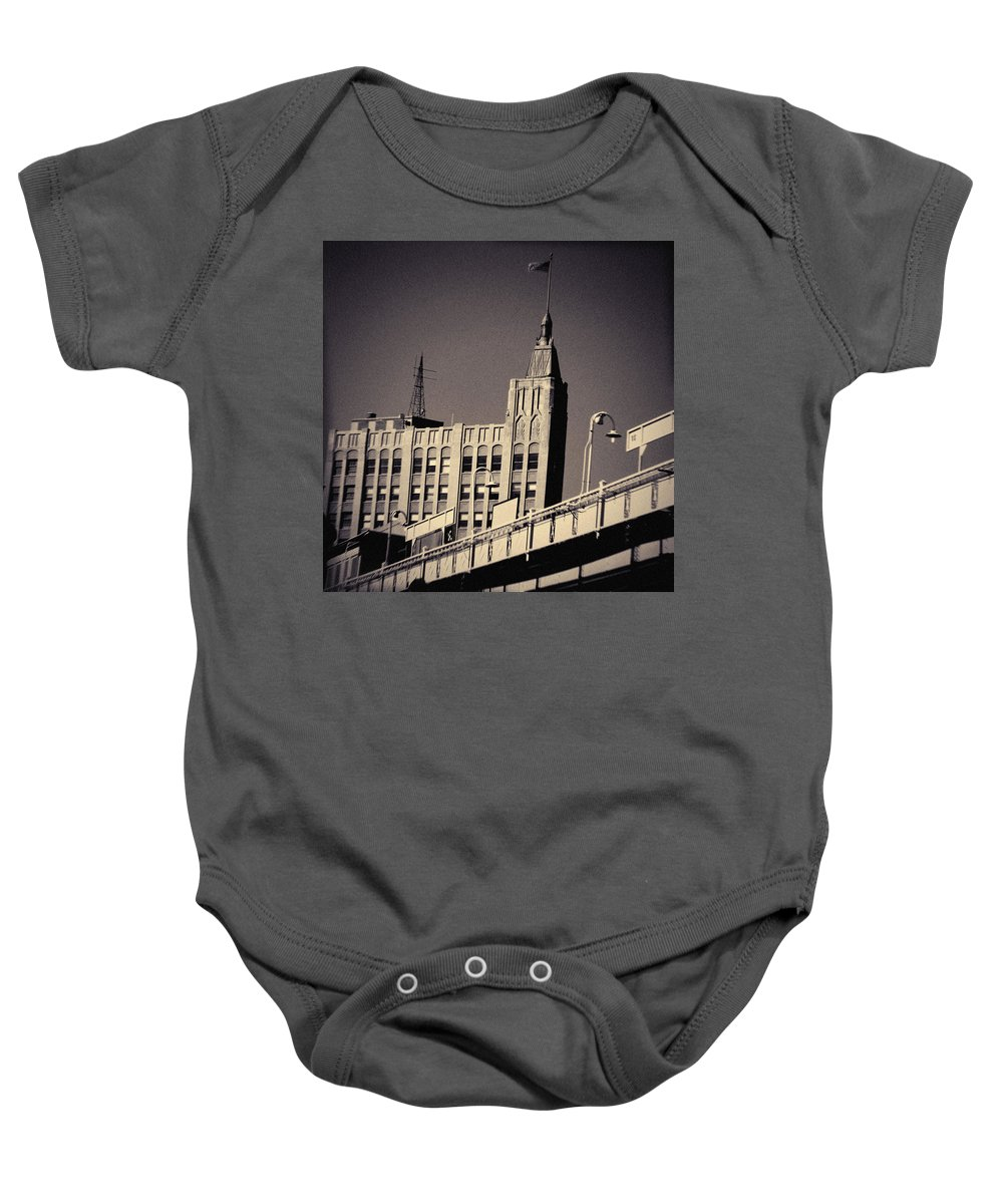 Wicker Park Baby Onesie featuring the photograph Wicker Park Northwest Tower by Kyle Hanson
