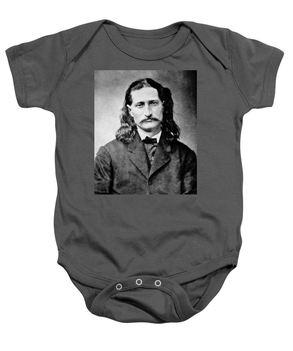wild Bill Baby Onesie featuring the photograph Wild Bill Hickok - American Gunfighter Legend by Daniel Hagerman