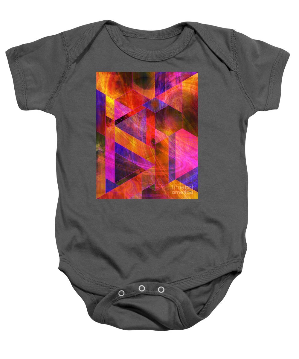 Wild Fire Baby Onesie featuring the digital art Wild Fire by John Beck