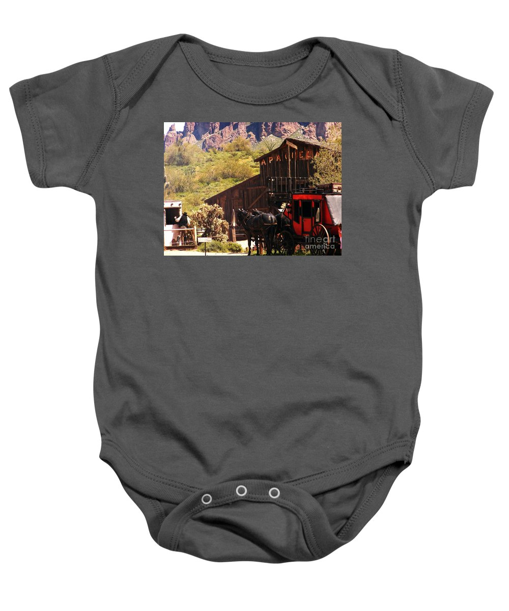 Western Folklore Baby Onesie featuring the photograph Wild West by Marilyn Smith