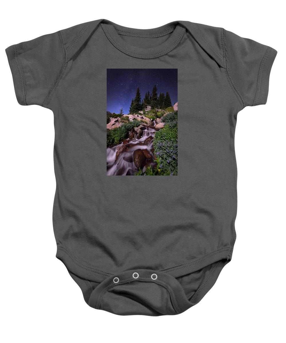 All Rights Reserved Baby Onesie featuring the photograph Wildflower Finale In The Indian Peaks by Mike Berenson