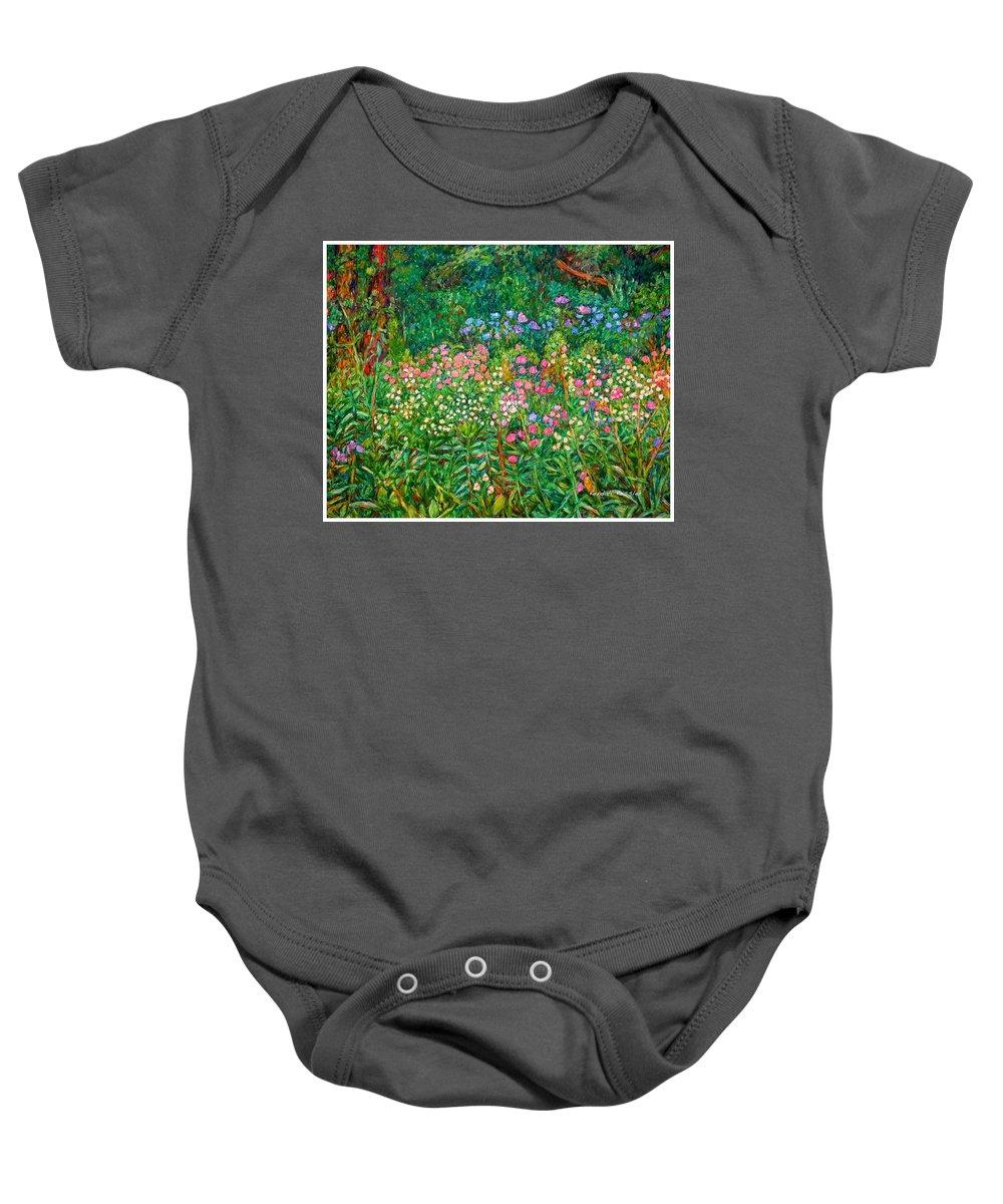 Floral Baby Onesie featuring the painting Wildflowers Near Fancy Gap by Kendall Kessler