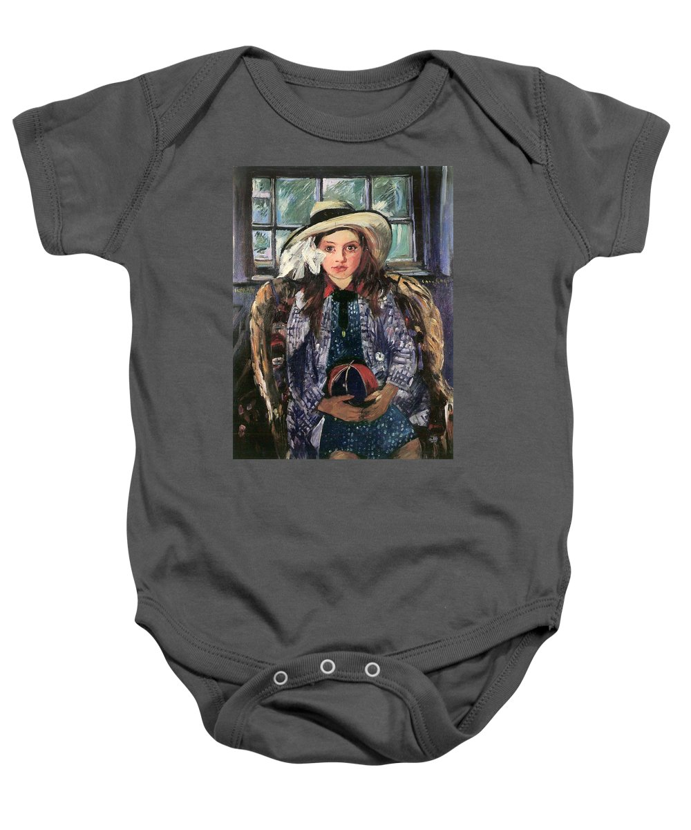Painting Baby Onesie featuring the painting Wilhelmine With Ball 1915 by Mountain Dreams