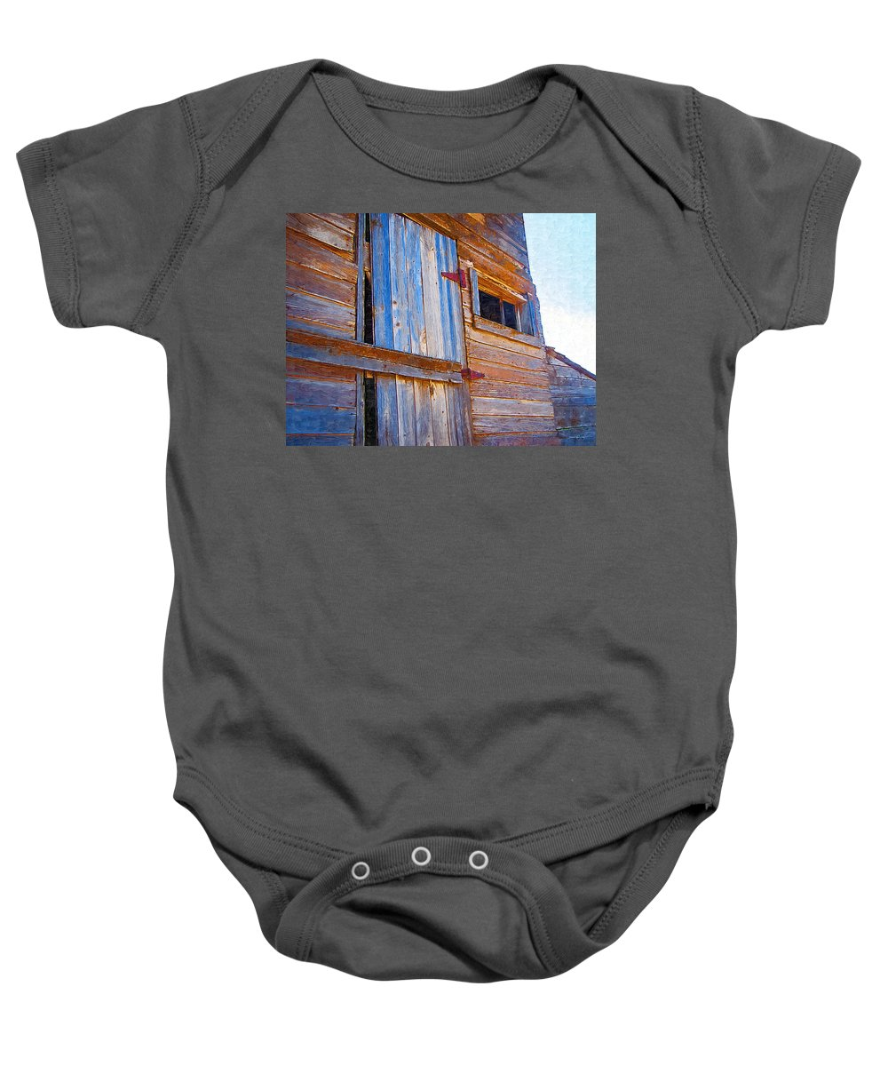 Window Baby Onesie featuring the photograph Window 3 by Susan Kinney