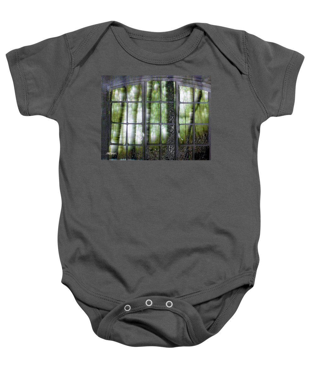 Window On The Woods Baby Onesie featuring the digital art Window On The Woods by Seth Weaver
