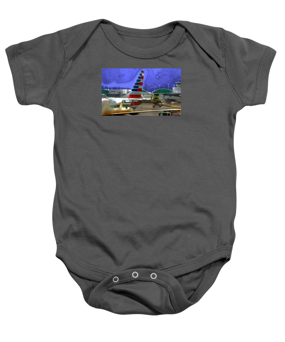 Winter Baby Onesie featuring the photograph Winter At The Airport by Martin Massari