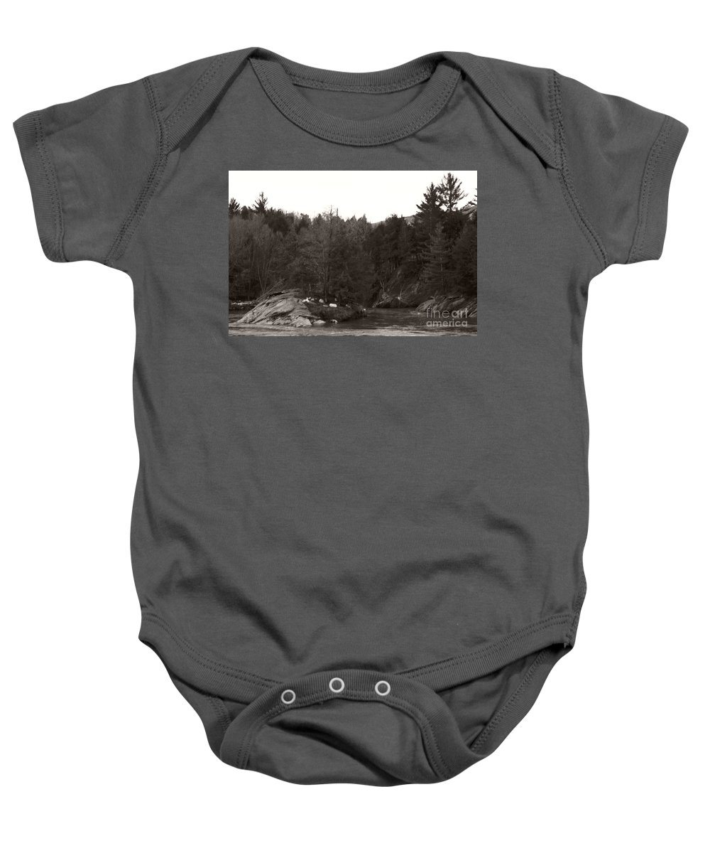 Baby Onesie featuring the photograph Winter River Number Two by Heather Kirk