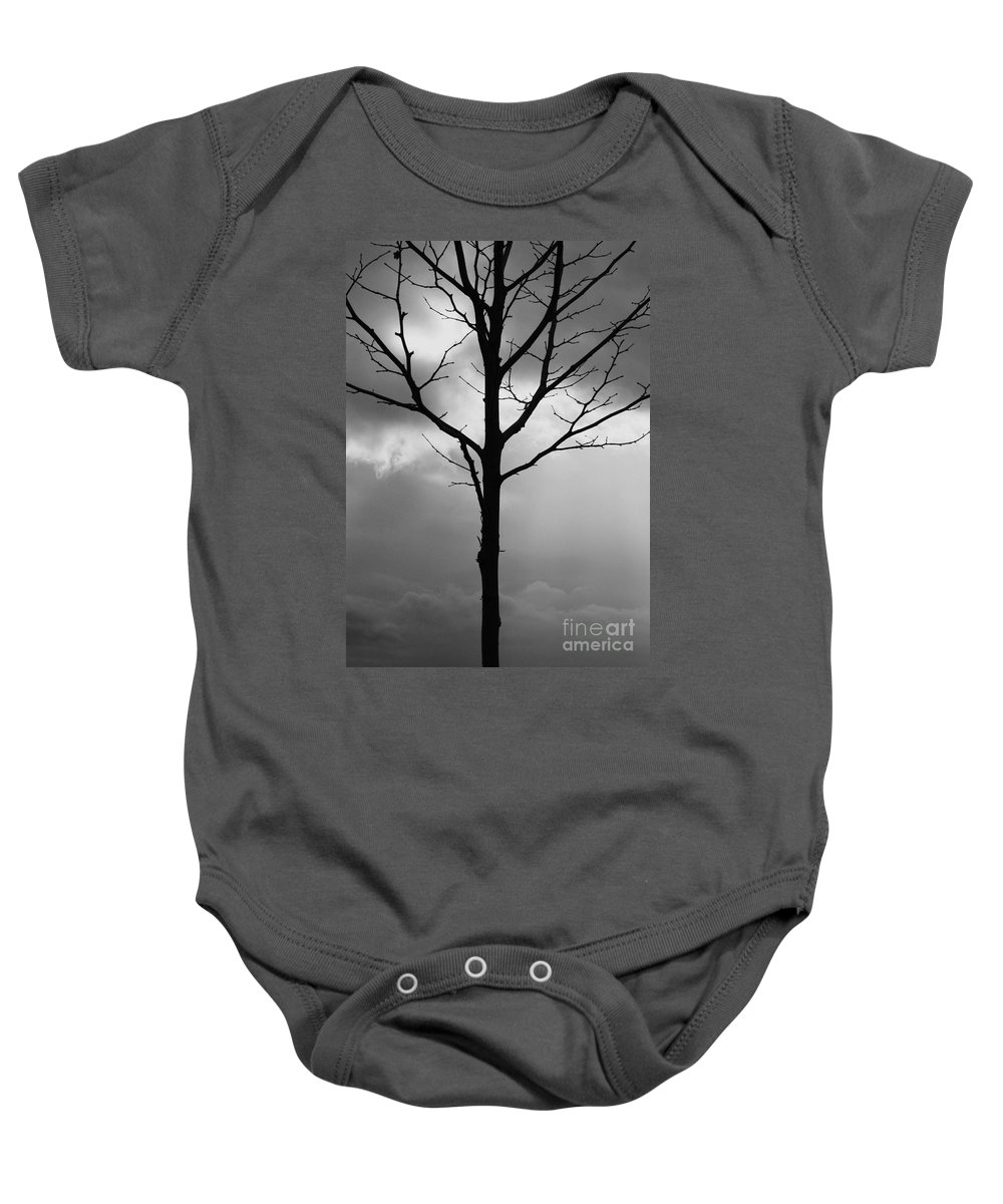 Winter Tree Baby Onesie featuring the photograph Winter Tree by Carol Groenen