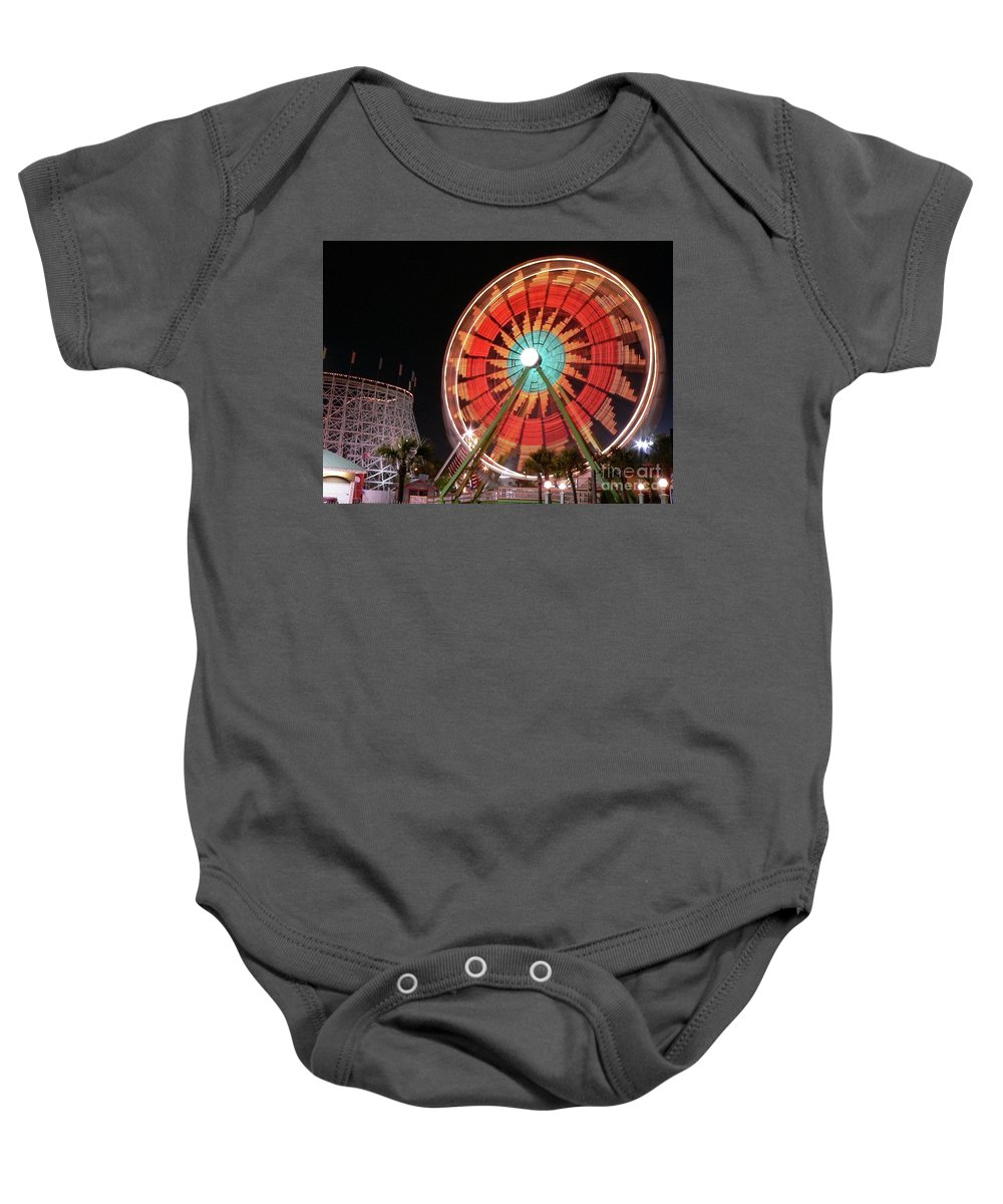 Ferris Wheel Baby Onesie featuring the photograph Wonder Wheel by Al Powell Photography USA