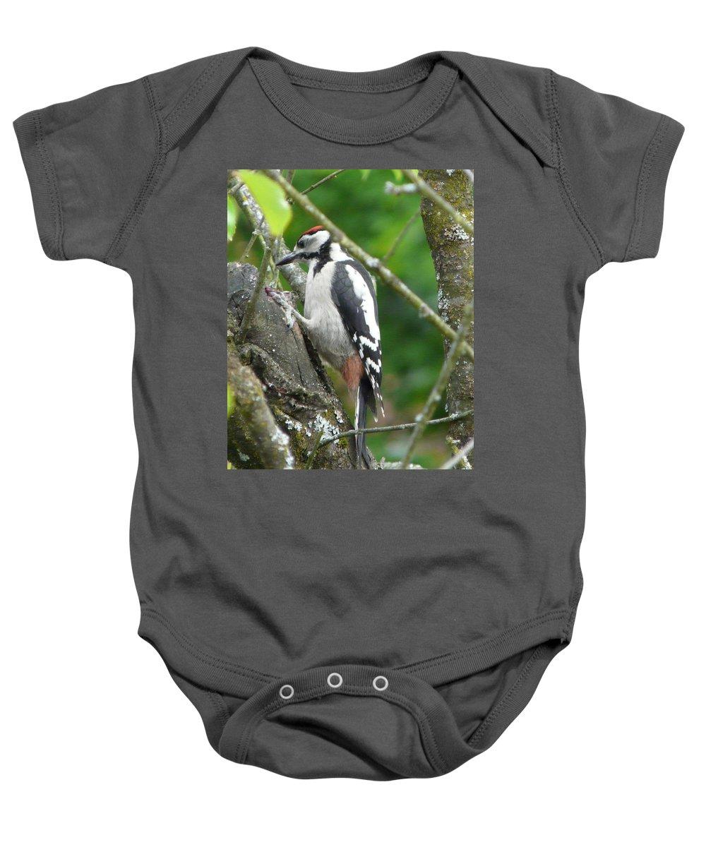 Bird Baby Onesie featuring the photograph Woodpecker by Valerie Ornstein