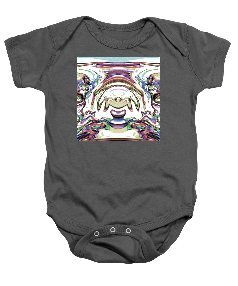 Peace Baby Onesie featuring the digital art World At Peace by Blind Ape Art