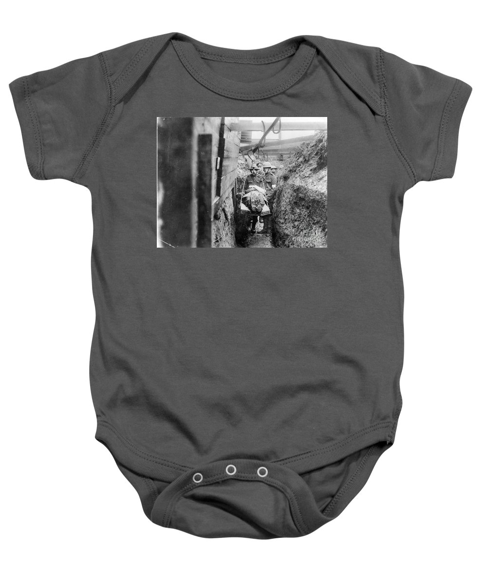 1910s Baby Onesie featuring the photograph World War I: France by Granger