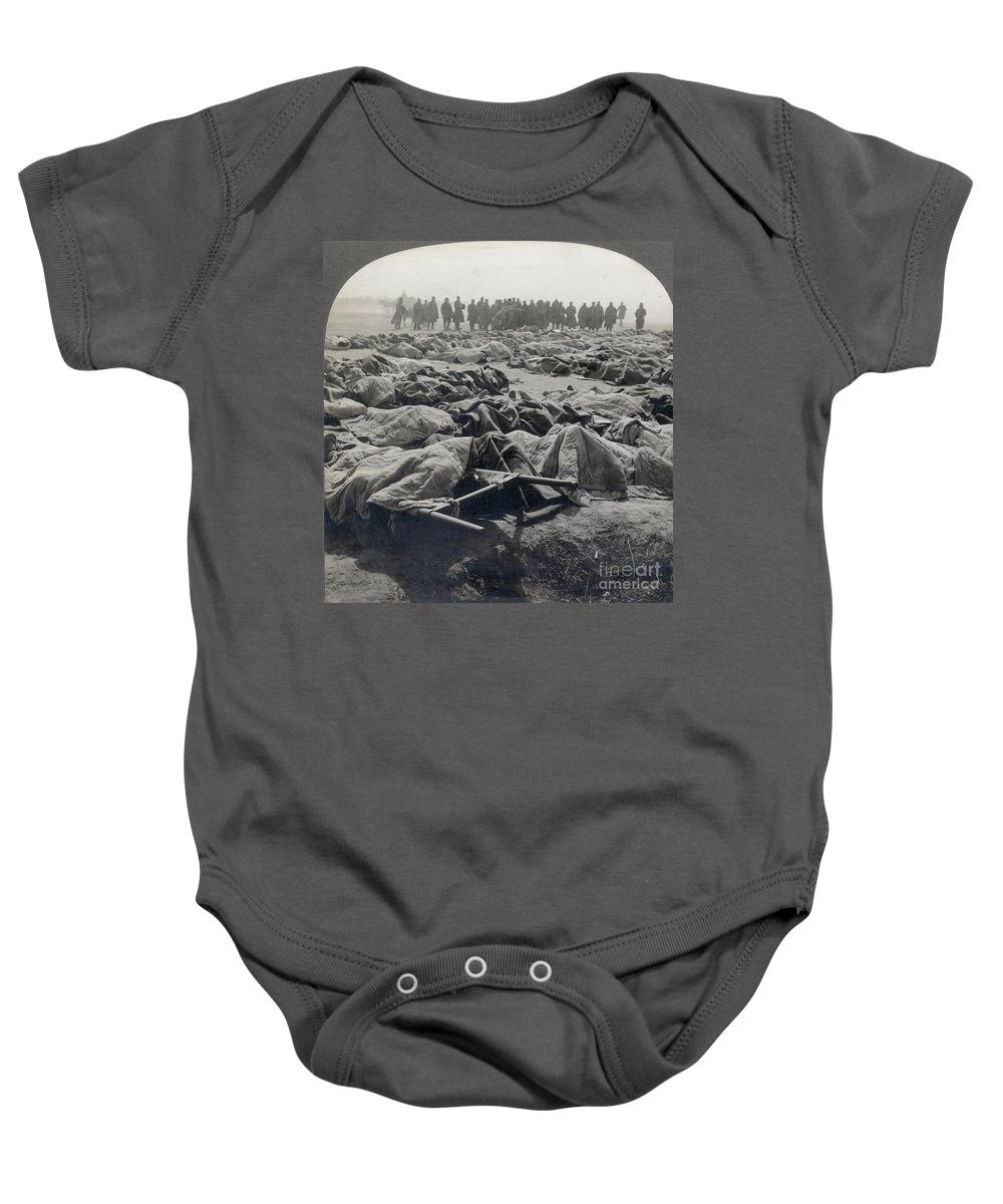 Casualty Baby Onesie featuring the photograph World War I: Russian Dead by Granger