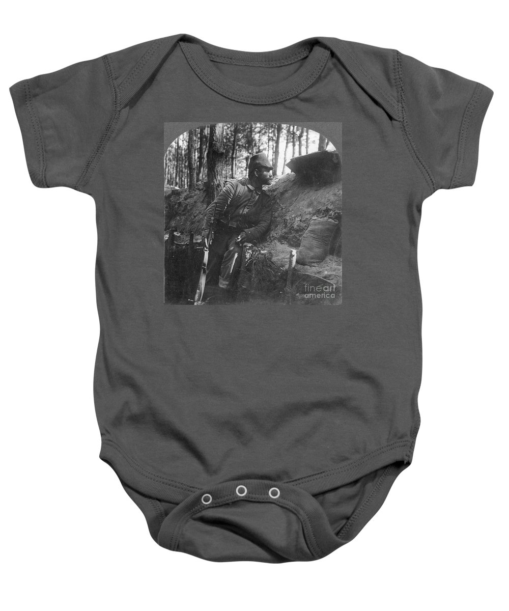 1916 Baby Onesie featuring the photograph World War I: Soldier by Granger