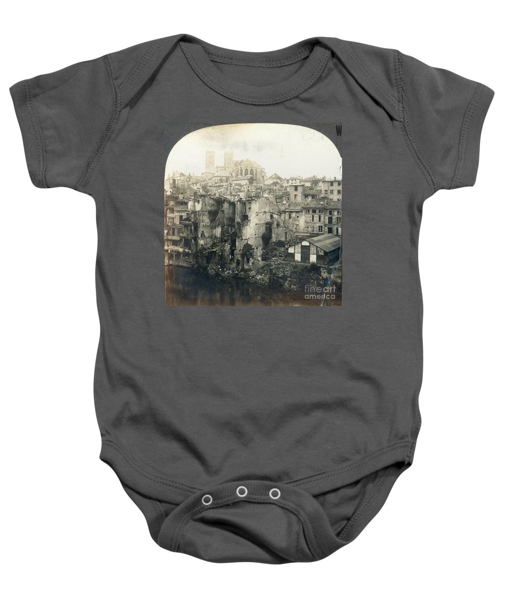 1919 Baby Onesie featuring the photograph World War I: Verdun Ruins by Granger