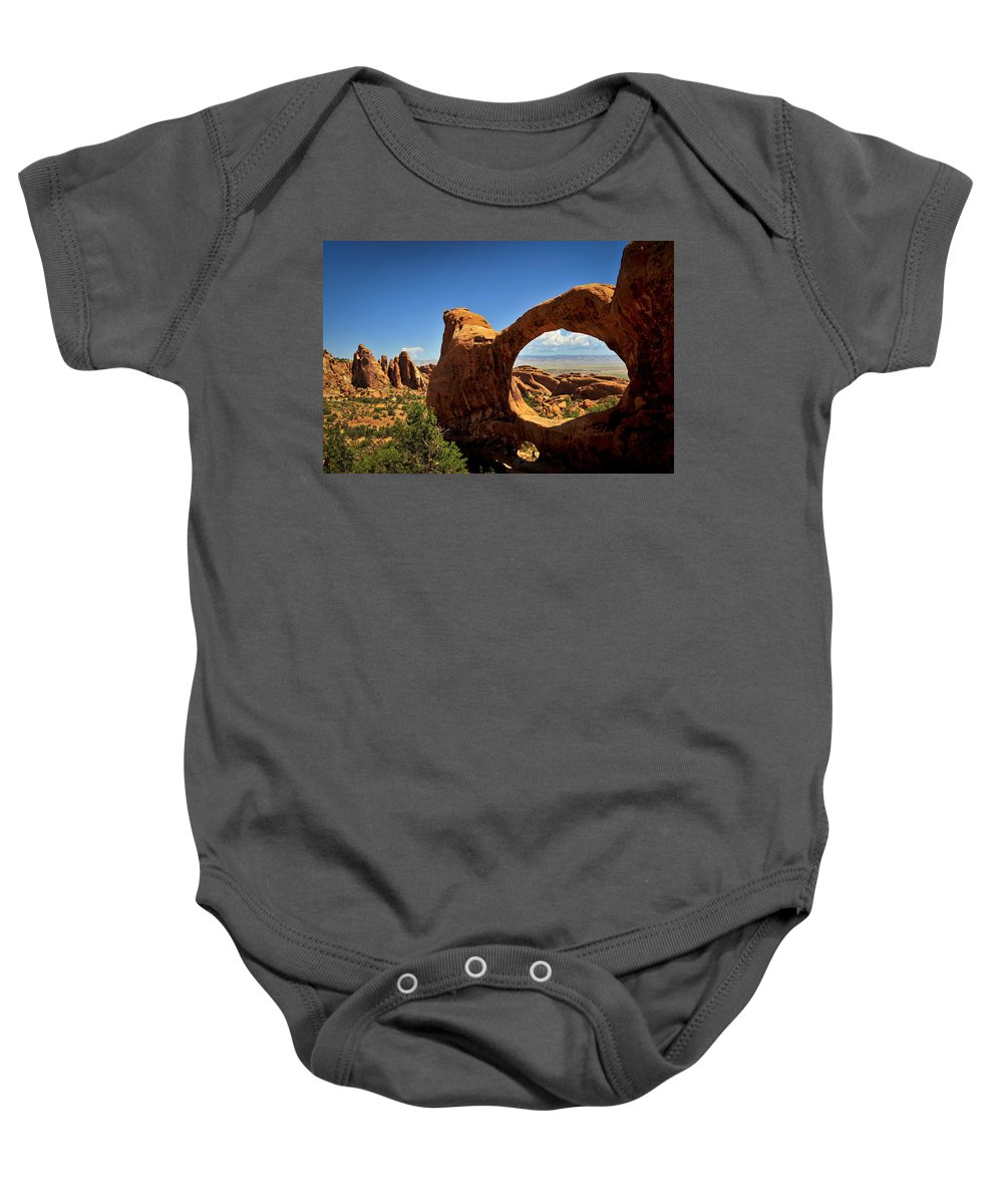Worm Hole Baby Onesie featuring the photograph Worm Hole by Skip Hunt