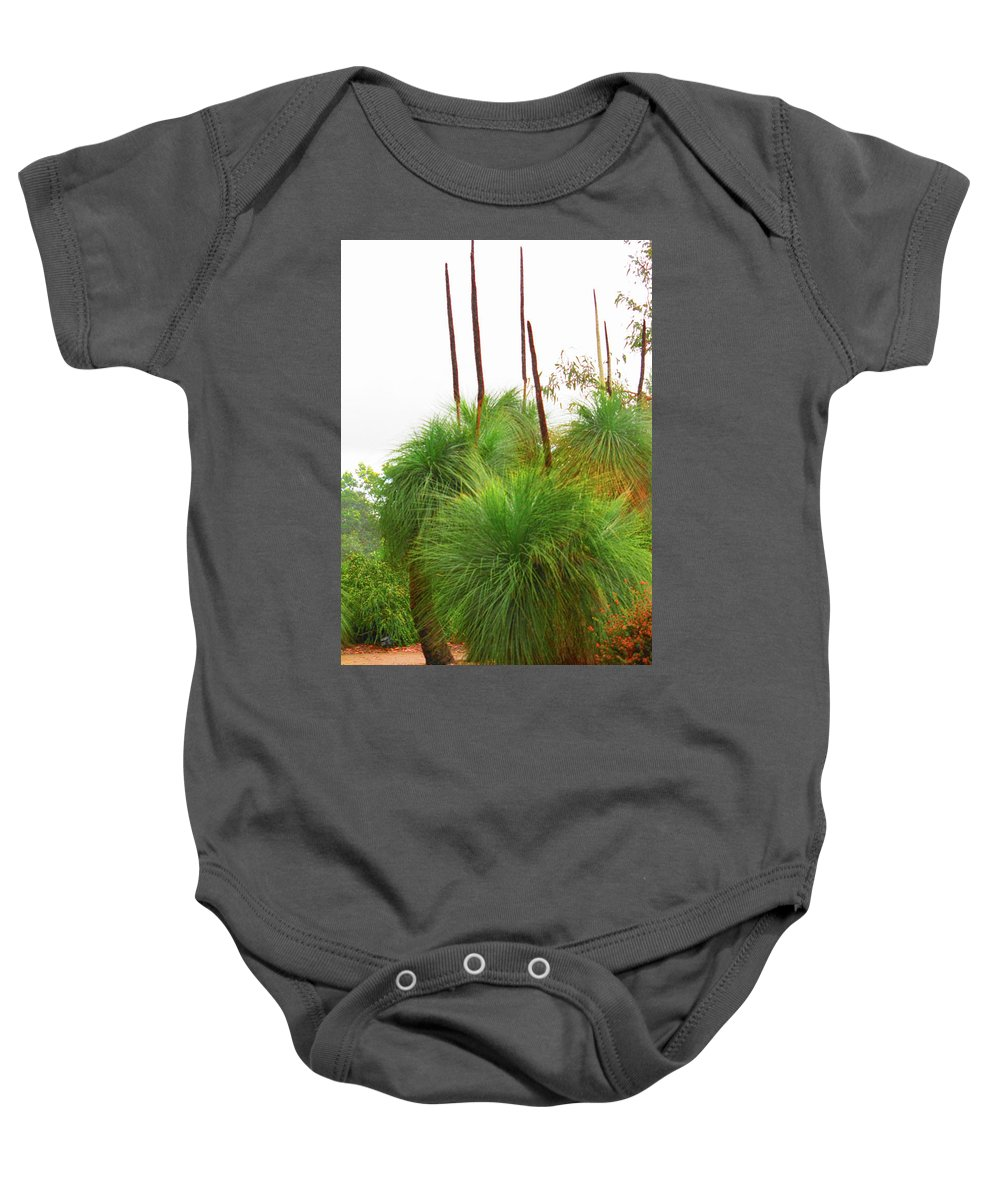 Xanthorrhoea Preissii Baby Onesie featuring the photograph Xanthorrhoea by Peter Krause