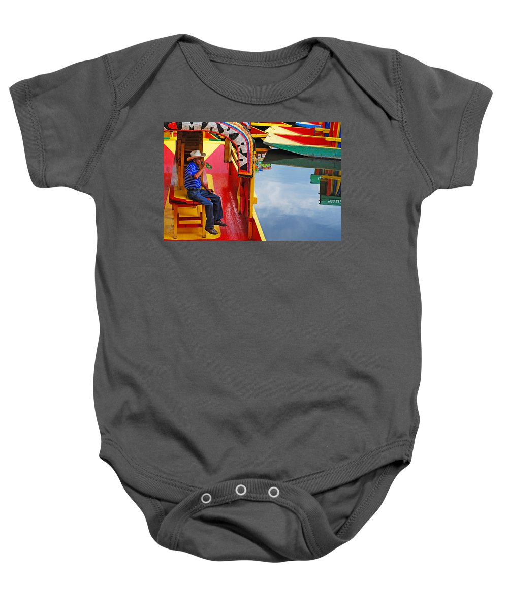 Skip Hunt Baby Onesie featuring the photograph Xochimilco by Skip Hunt