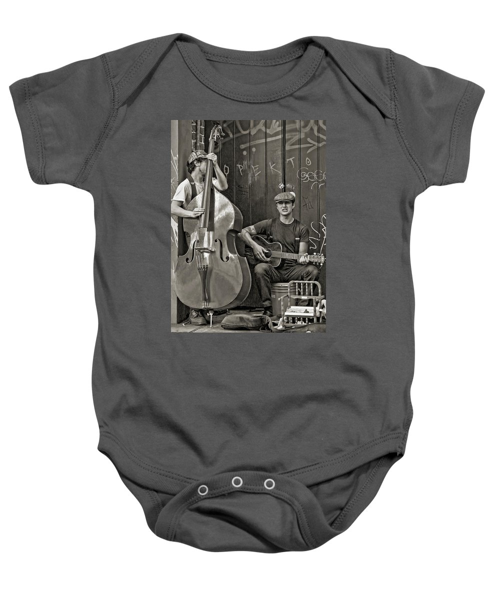 Nola Baby Onesie featuring the photograph Yeah...it Hurts So Bad Sepia by Steve Harrington