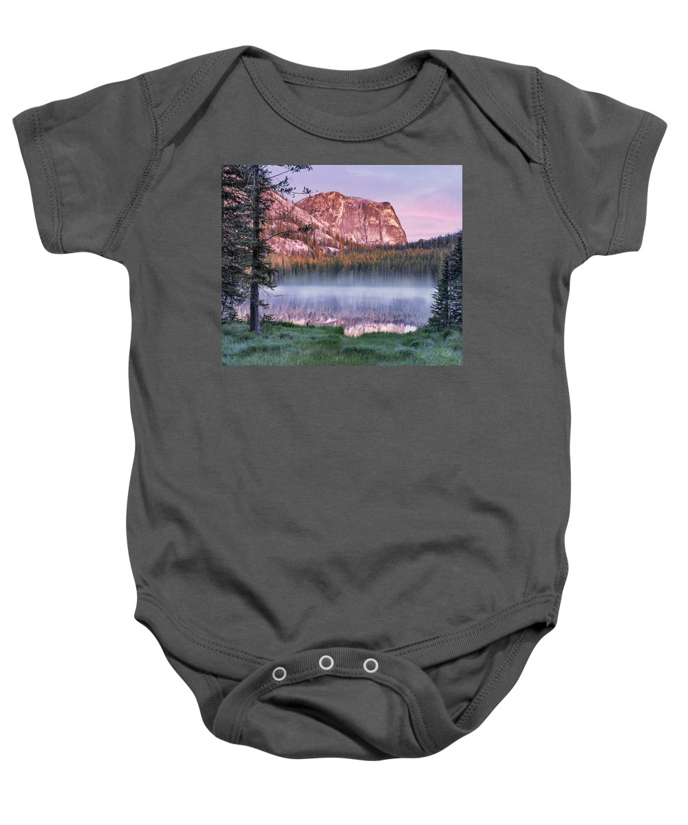Beautiful Baby Onesie featuring the photograph Yellow Jacket Lake by Leland D Howard