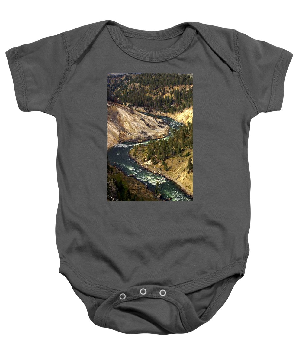 Yellowstone National Park Baby Onesie featuring the photograph Yellowstone River Canyon by Marty Koch