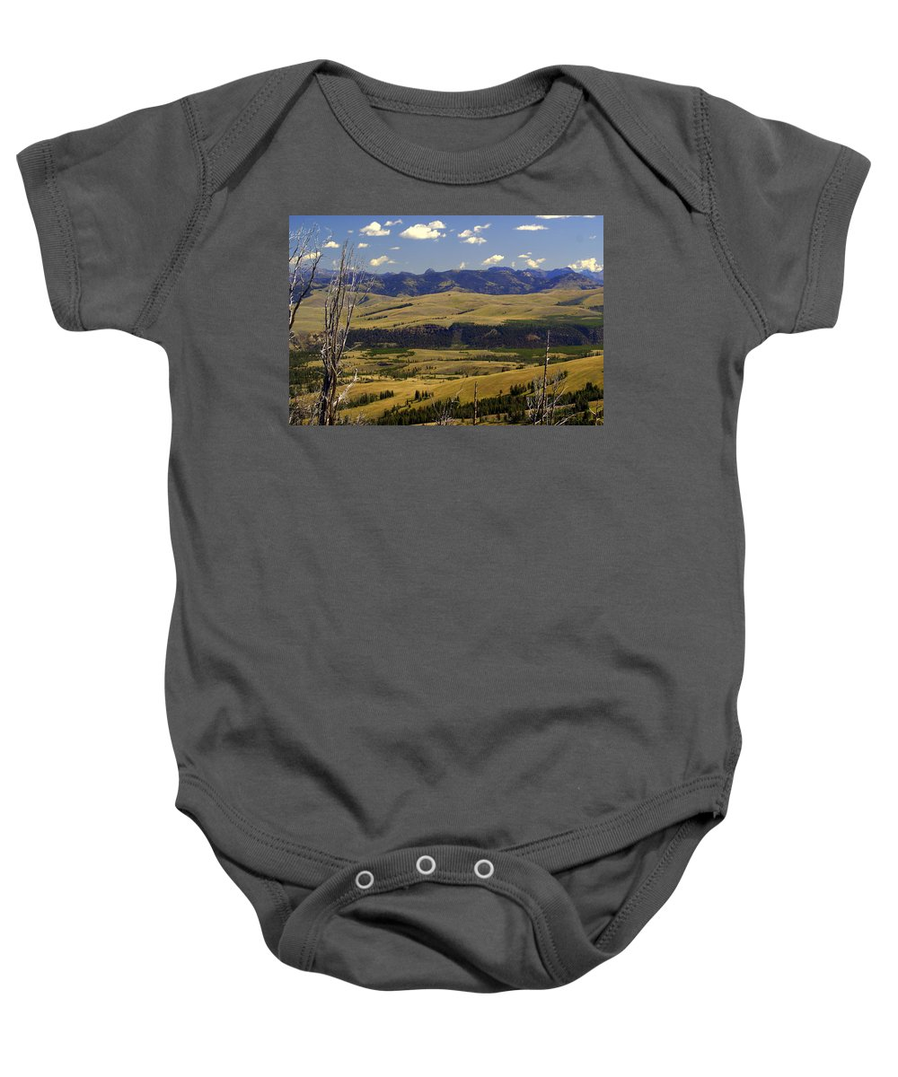 Yellowstone National Park Baby Onesie featuring the photograph Yellowstone Vista by Marty Koch