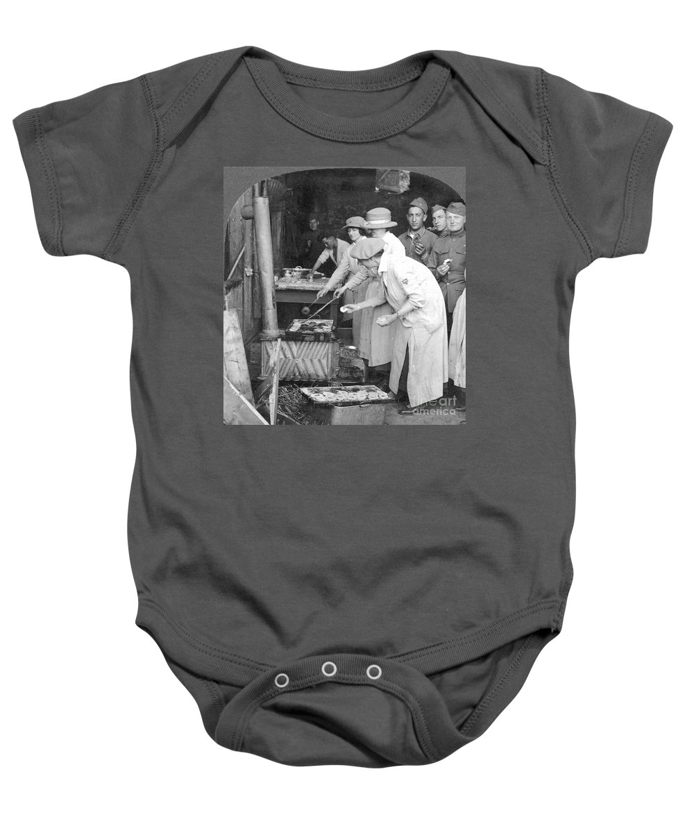 1918 Baby Onesie featuring the photograph Ymca Women Workers by Granger
