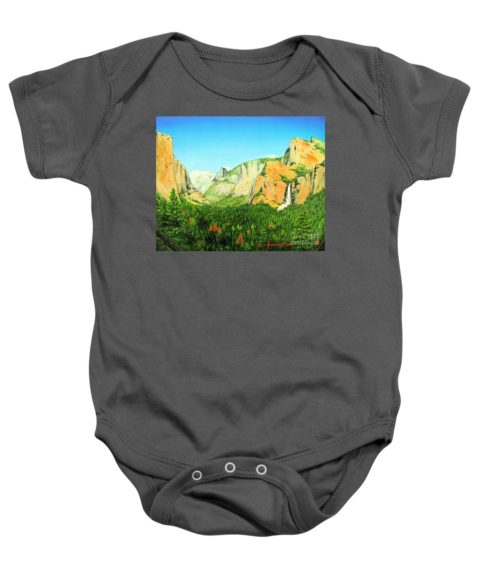 Yosemite National Park Baby Onesie featuring the painting Yosemite National Park by Jerome Stumphauzer