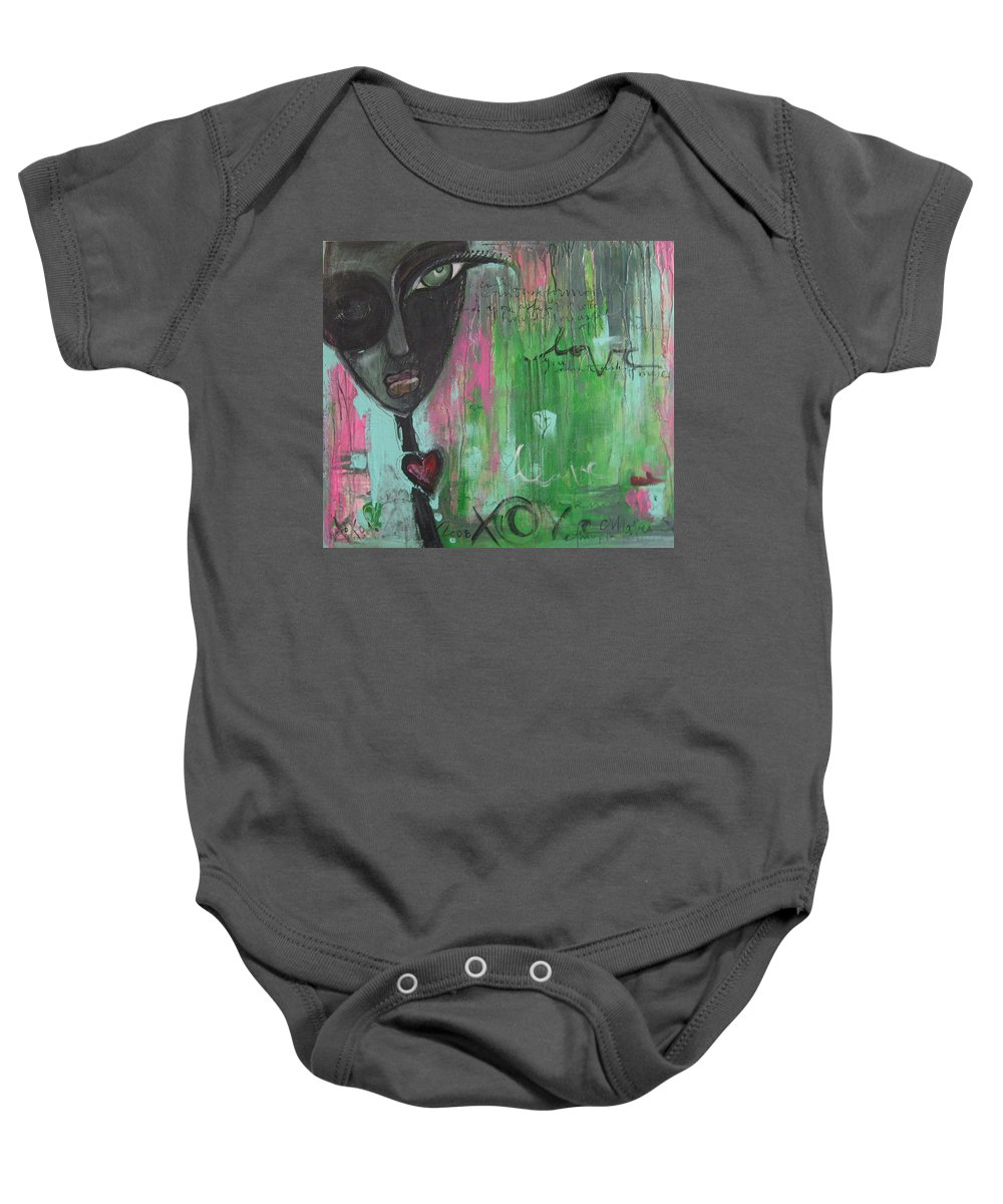 Figurative Baby Onesie featuring the painting You Cant Ask For More by Laurie Maves ART