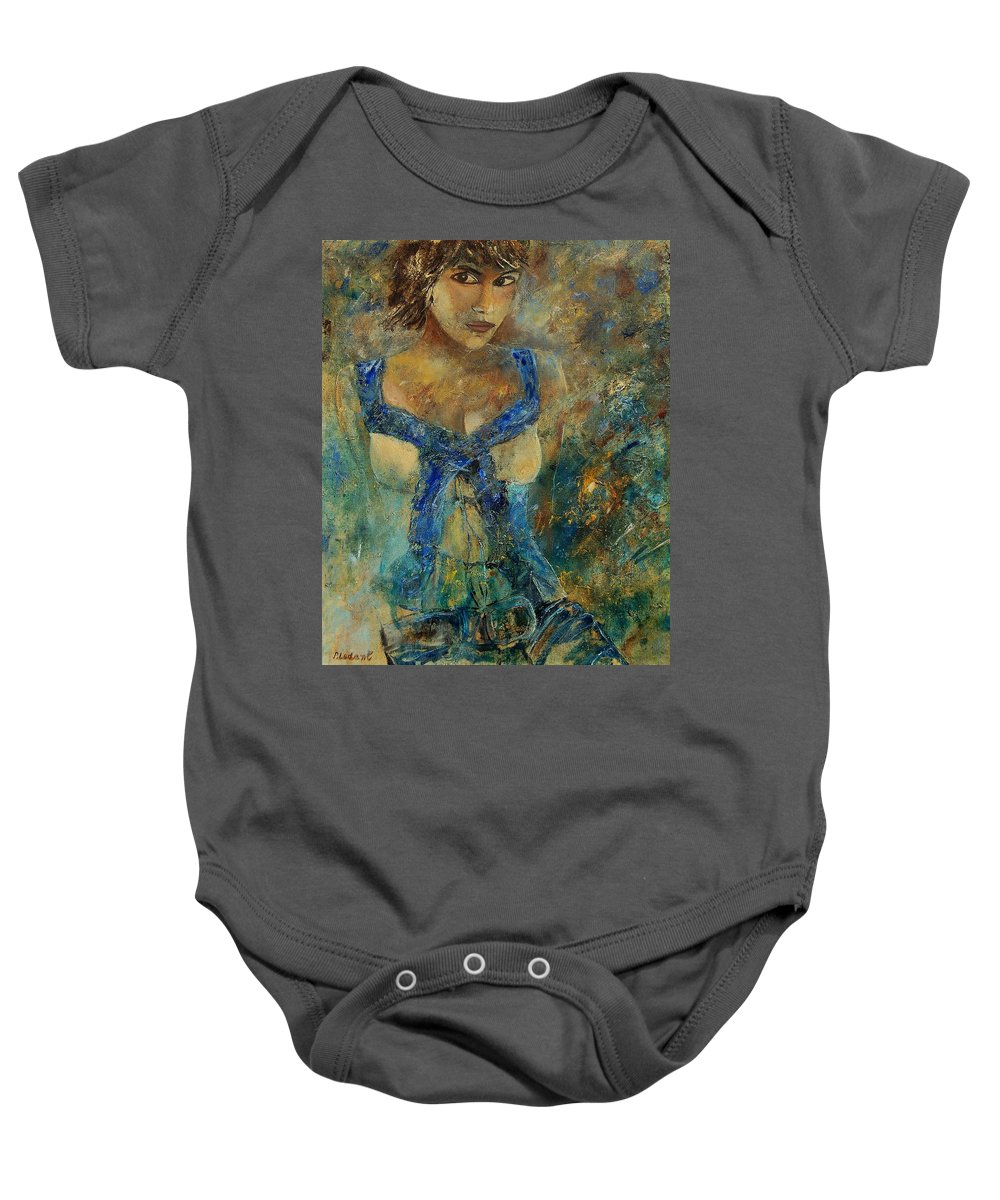 Girl Baby Onesie featuring the painting Young Lady 5698 by Pol Ledent