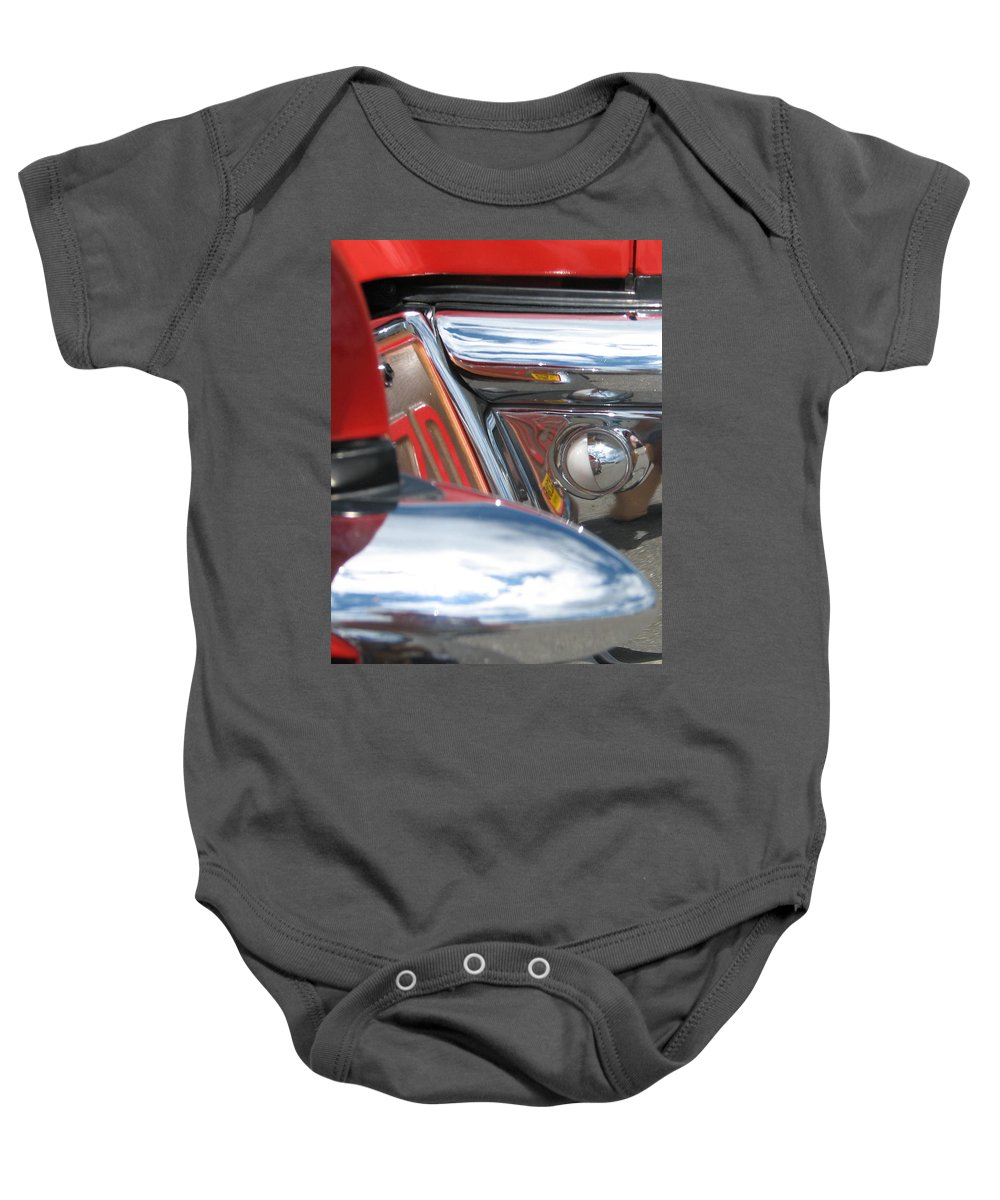 Thunderbird Baby Onesie featuring the photograph ZD by Kelly Mezzapelle