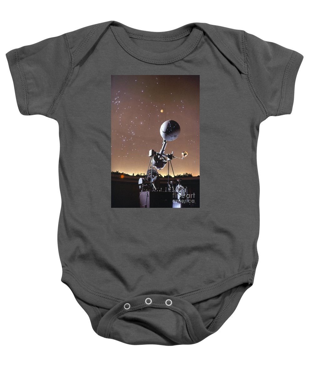 20th Century Baby Onesie featuring the photograph Zeiss Planetarium Projector by Granger