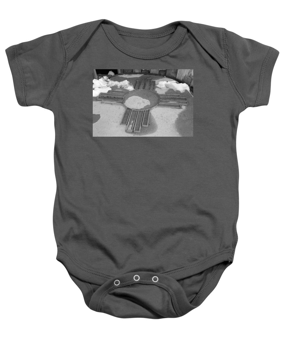 Zia Sun Baby Onesie featuring the photograph Zia Sun by Rob Hans