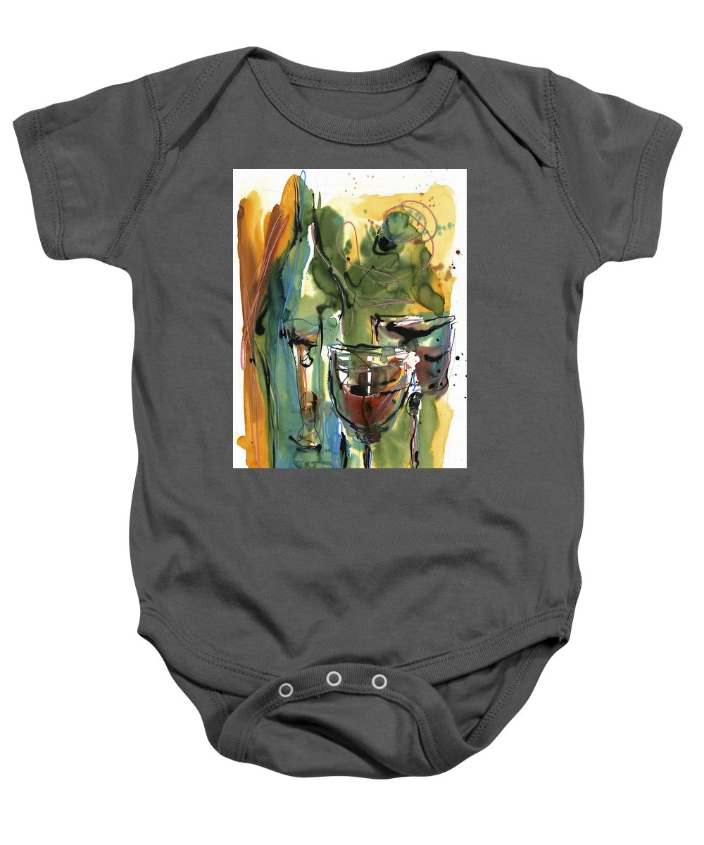 Wine Baby Onesie featuring the painting Zin-findel by Robert Joyner