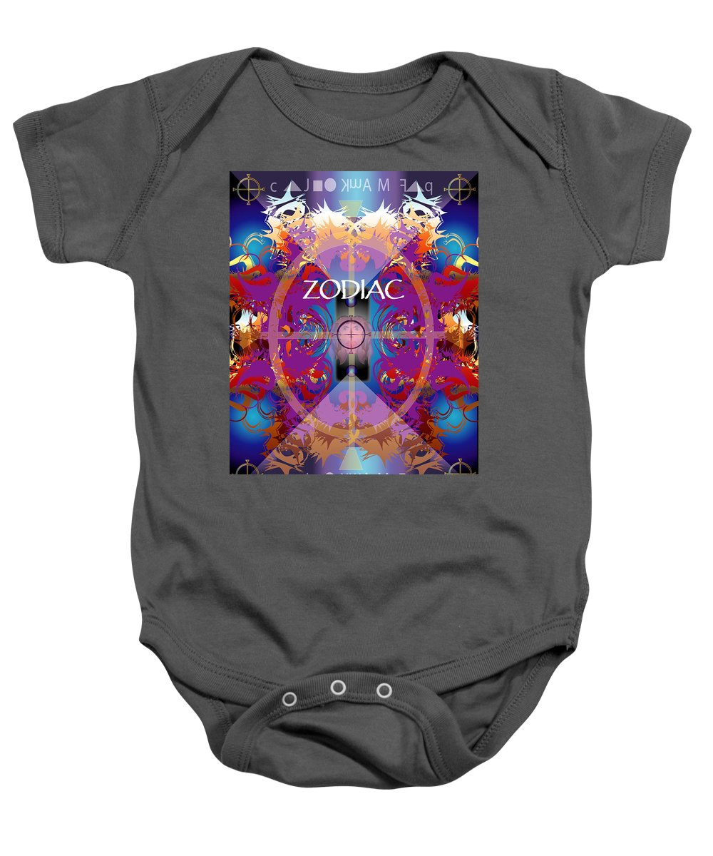 Abstaract Baby Onesie featuring the digital art Zodiac 2 by George Pasini