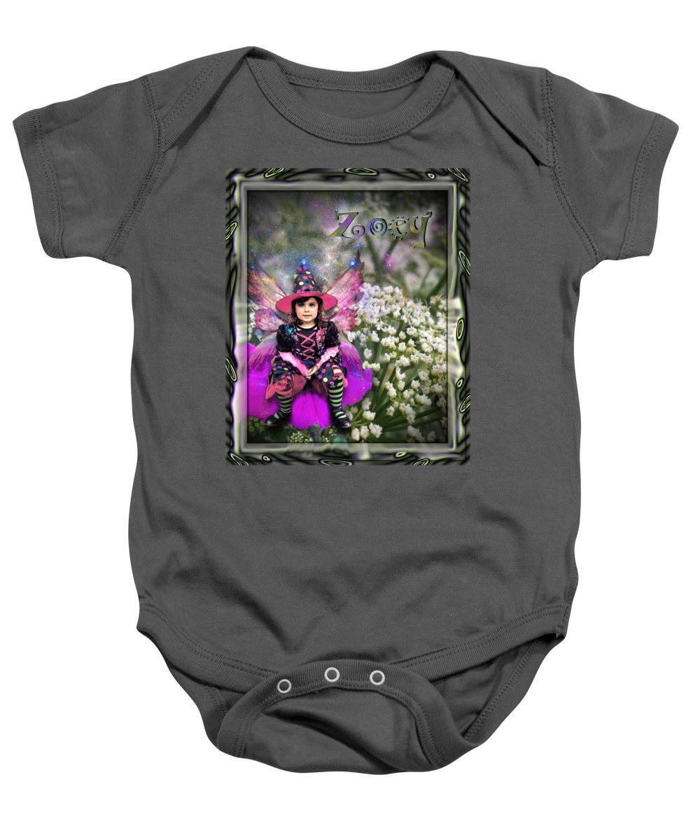 Baby Onesie featuring the digital art Zoey by Susan Kinney