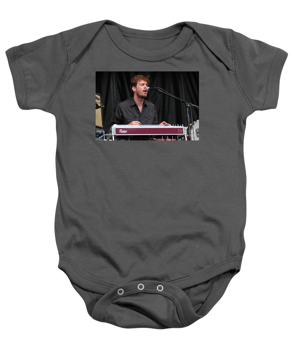 Gibson Les Paul Baby Onesie featuring the photograph Drive By Truckers John Neff by Concert Photos