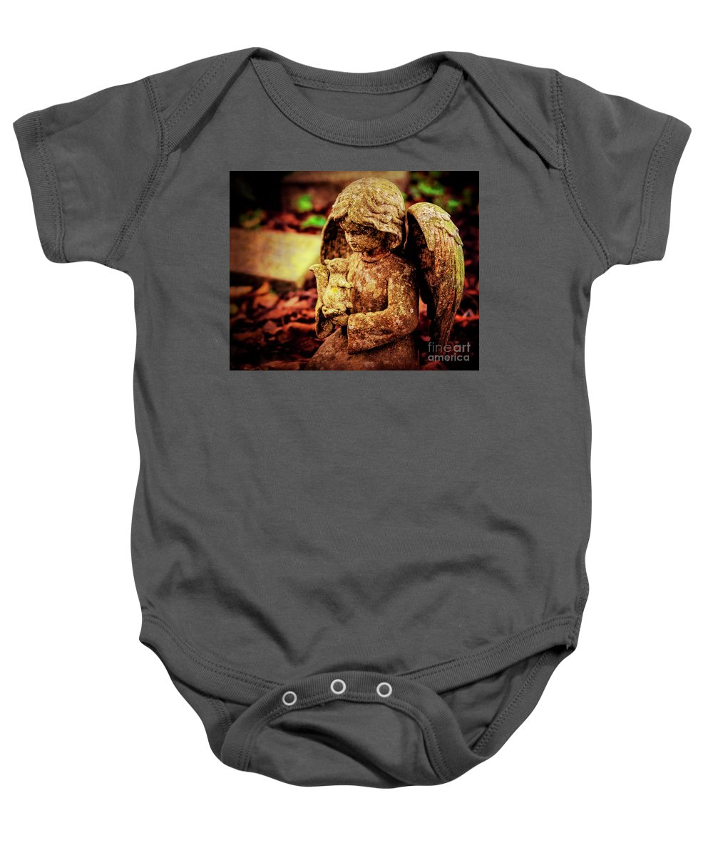 Cherub Baby Onesie featuring the photograph Garden Grace by Joe Geraci