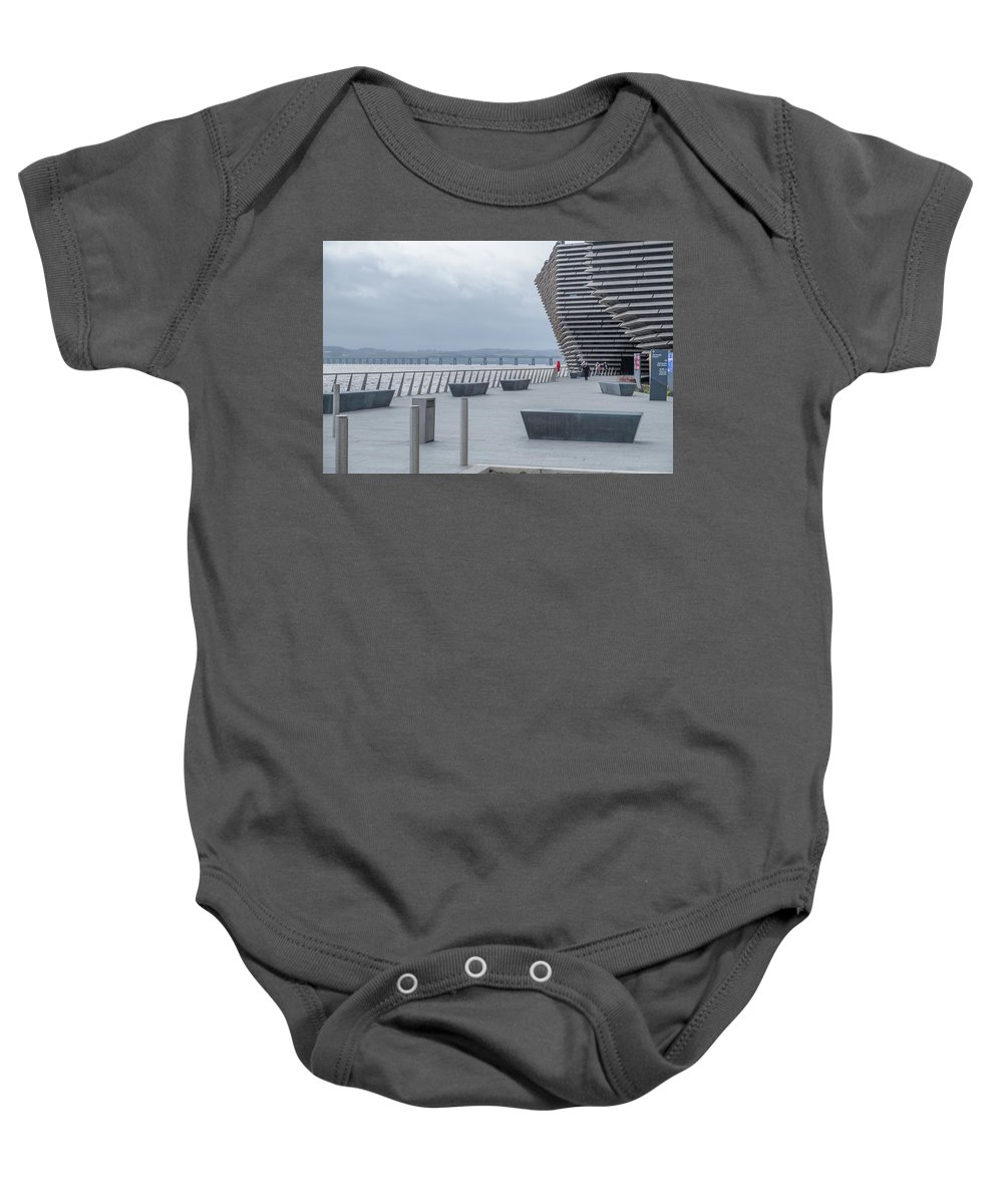 Dundee Baby Onesie featuring the photograph Looking Along The Footpath To The Victoria And Albert Museum by Jim McDowall