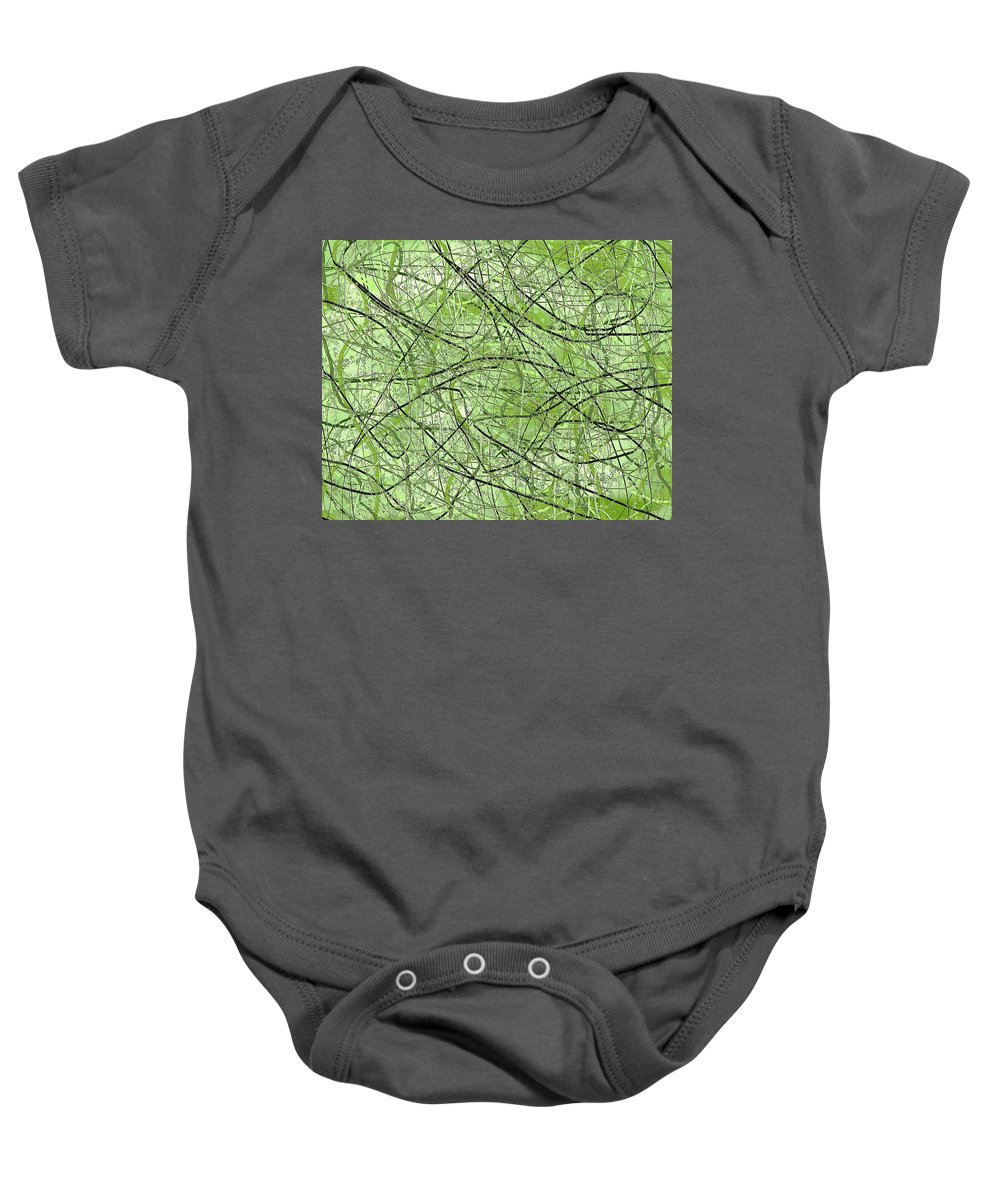 Abstract Art Baby Onesie featuring the digital art 1968 by Ely Arsha
