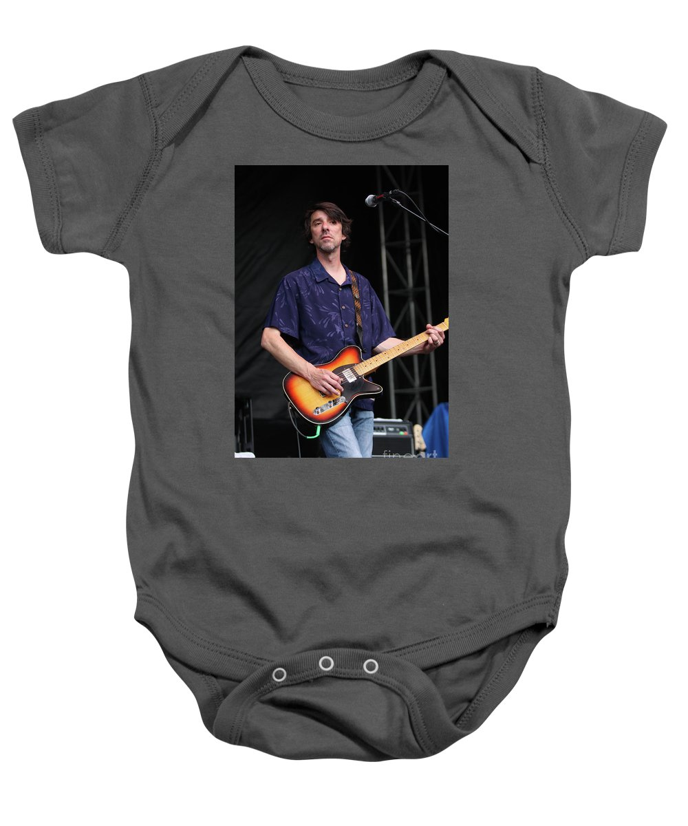 Mike Cooley Baby Onesie featuring the photograph Drive By Truckers Mike Cooley by Concert Photos