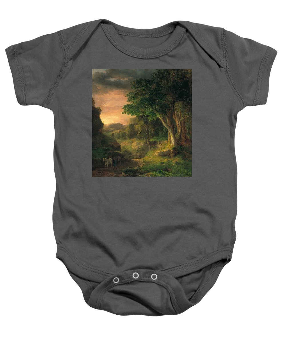George Inness Baby Onesie featuring the painting In The Berkshires by George Inness