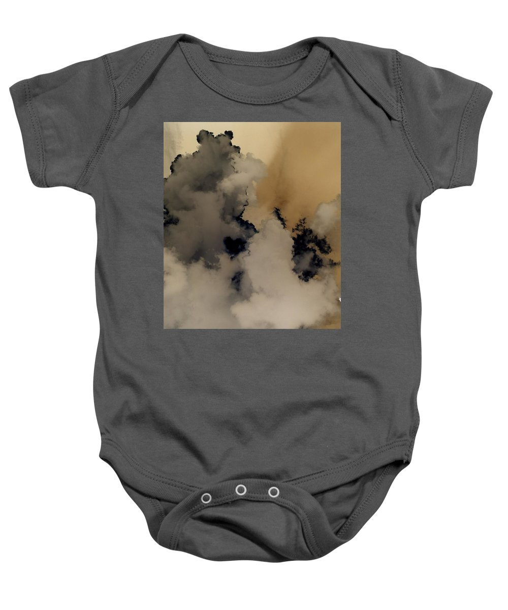 Cloudscape Baby Onesie featuring the photograph 2 O'clock by Elizabeth Quinn